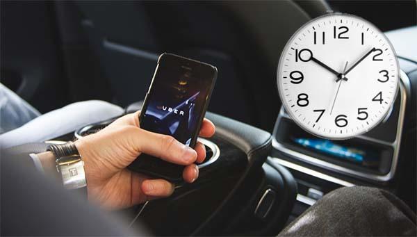 Как в uber заказать такси на определенное время